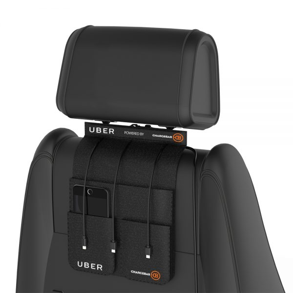 back seat Uber Charger chargebar.com.au